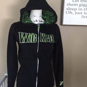 Wicked hoodie women's size s Green for Good black